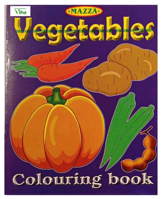 CHILDREN COLOURING BOOK(VEGETABLES)