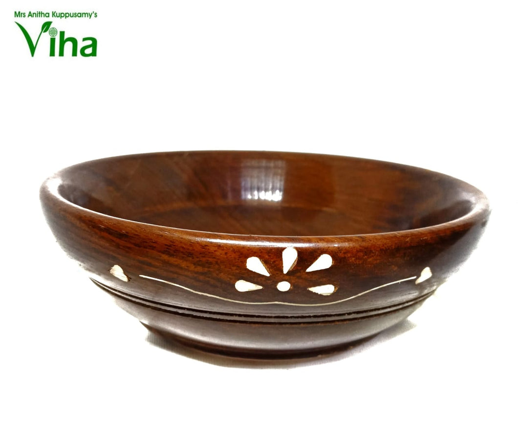 Antique Wooden Bowl - Medium