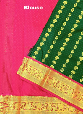 Embossed Korvai Silk Saree / எம்போஸ்ட் கோர்வை பட்டுப் புடவை (inclusive of all taxes)