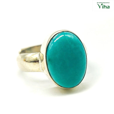 Turquoise Silver Ring - 6.13 g