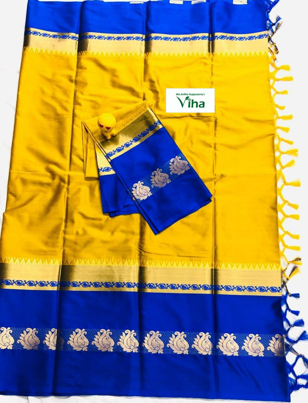 Cotton Silk Saree With Blouse(inclusive of all taxes)