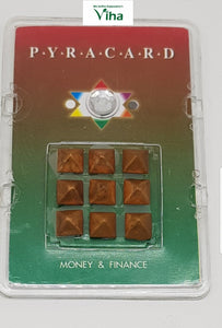Pocket Size Pyra Card with Pyramid Yantra for Money & Finance