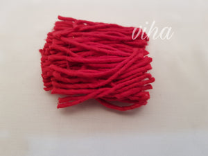 Red cotton wick