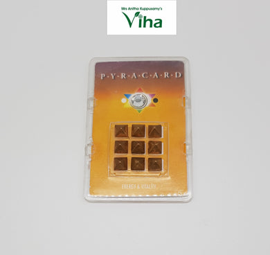 Pocket Size Pyra Card with Pyramid Yantra for Energy & Vitality