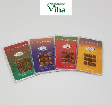 Pocket Size Pyra Cards with Pyramid Yantra for Luck & Fortune,Money & Finance,Business & Career,Vitality & Energy