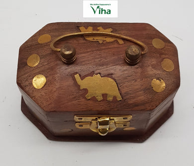 Wooden Box Small With Handle /மரப்பெட்டி