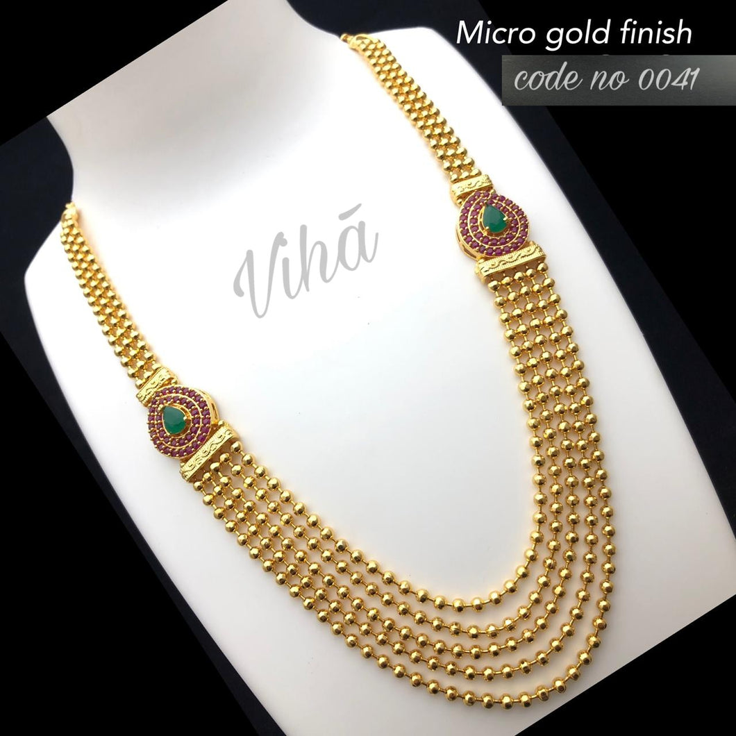 Micro Gold Finish Chain Haaram