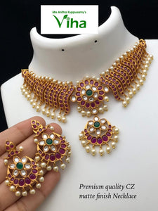 PREMIUM QUALITY NECKLACE JEWELLERY SET