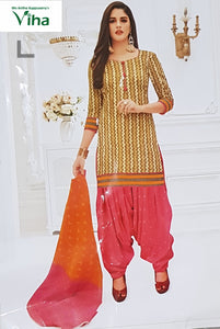 STITCHED COTTON CHURIDHAR SET 'L'