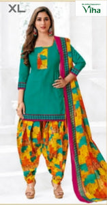 STITCHED COTTON CHURIDHAR SET IN L & XL