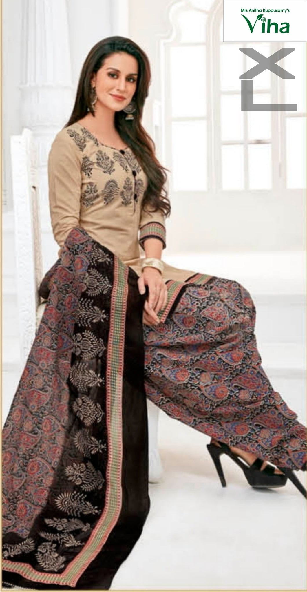 STITCHED COTTON CHURIDHAR SET 'XL'