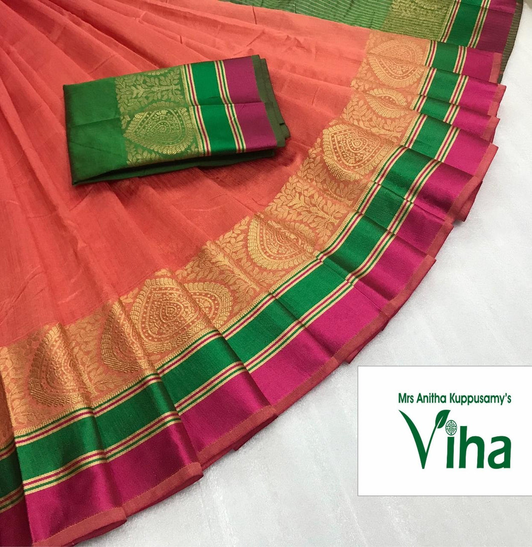 TUSSAR SILK SAREE WITH BLOUSE (inclusive of all taxes)