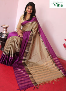 COTTON SILK SAREE GOPURAM BORDER WITH RUNNING BLOUSE code no : 5022(inclusive of all taxes)