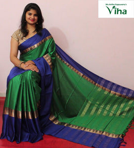 COTTON SILK SAREE WITH BLOUSE code no : 5040 (inclusive of all taxes)