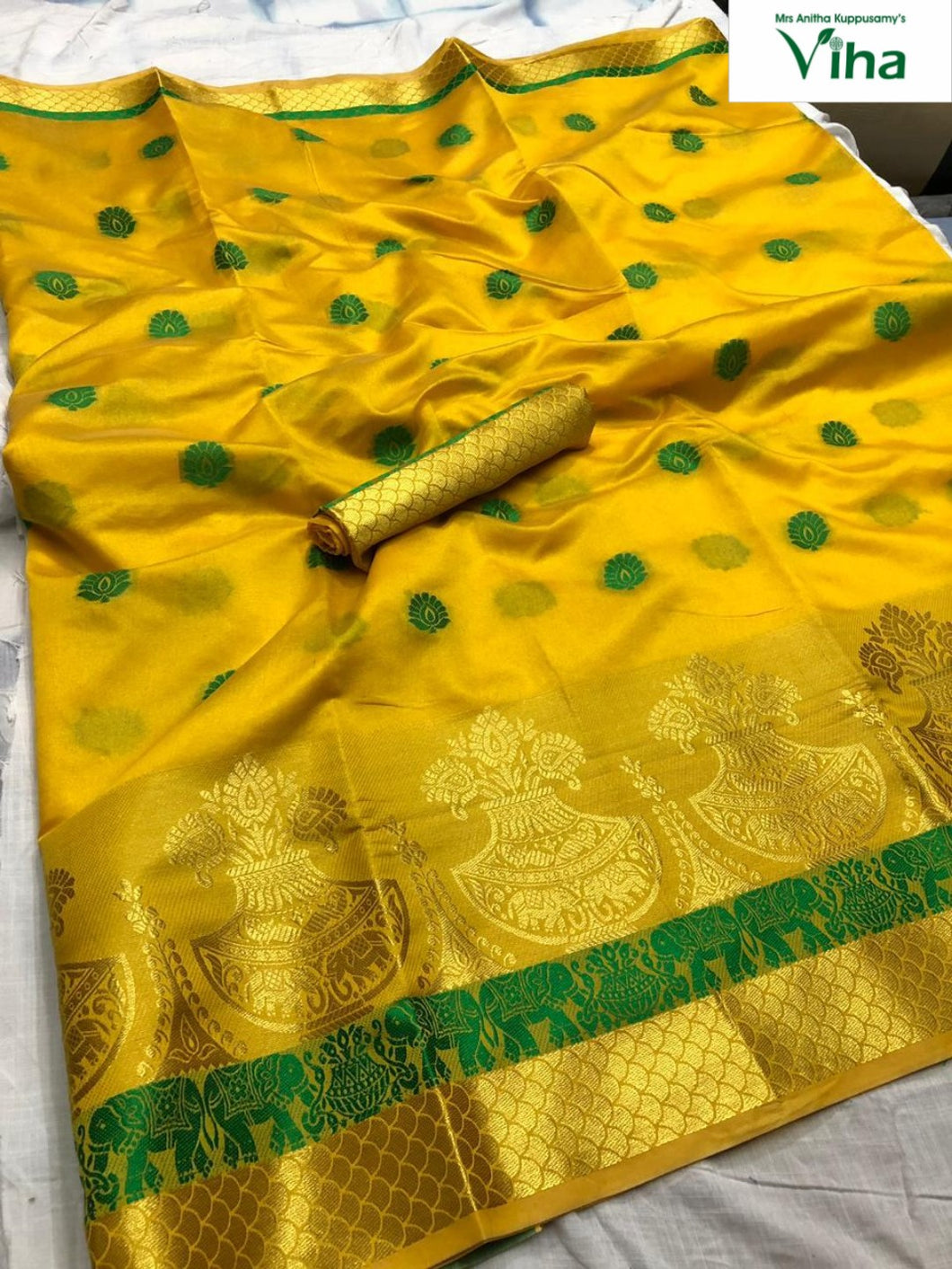 COTTON SILK SAREE WITH RUNNING BLOUSE (including tax)