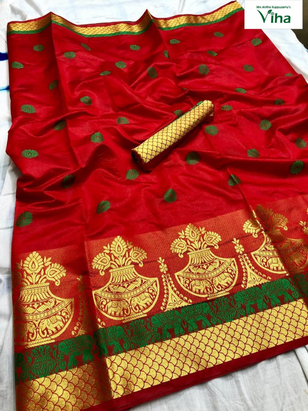 COTTON SILK SAREE WITH RUNNING BLOUSE