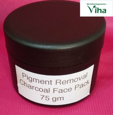 Pigment Removal Charcoal Face Pack (Cream), 75 gm
