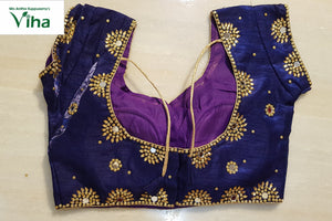 Ready made blouse with heavy mirror work