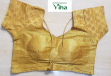 Ready made blouse - golden silk cotton