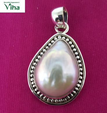 Pearl Designer Pendant in 92.5 Sterling  Pure Silver/9.33 Grams/முத்து டாலர்