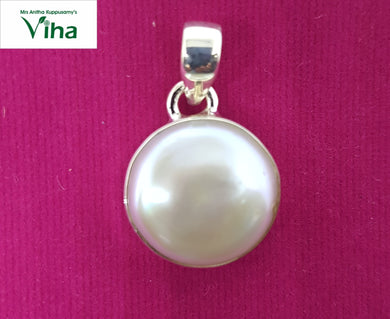 Pearl Designer Pendant in 92.5 Sterling  Pure Silver/ 5.45 Grams/ முத்து டாலர்