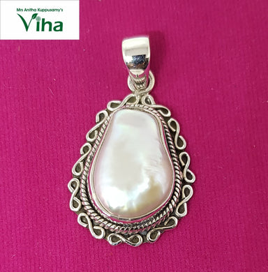 Pearl Designer Pendant in 92.5 Sterling  Pure Silver/9.18 Grams/முத்து டாலர்