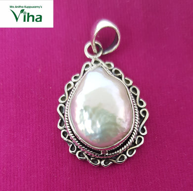 Pearl Designer Pendant (Pearl Cut)in 92.5 Sterling  Pure Silver/9.40 Grams/முத்து டாலர்