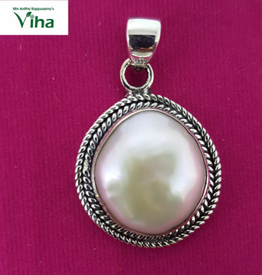 Pearl Designer Pendant (Round)in 92.5 Sterling  Pure Silver/9.40 Grams/முத்து டாலர்