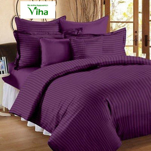 Plain Cotton double bedsheet - including tax