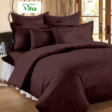 Plain Cotton double bedsheet