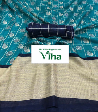 Jute Linen silk saree