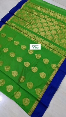 Premium quality cotton silk saree with blouse (inclusive of all taxes)