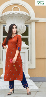 Rubby Silk with embroidery top with pant full stitched (inclusive of all taxes)