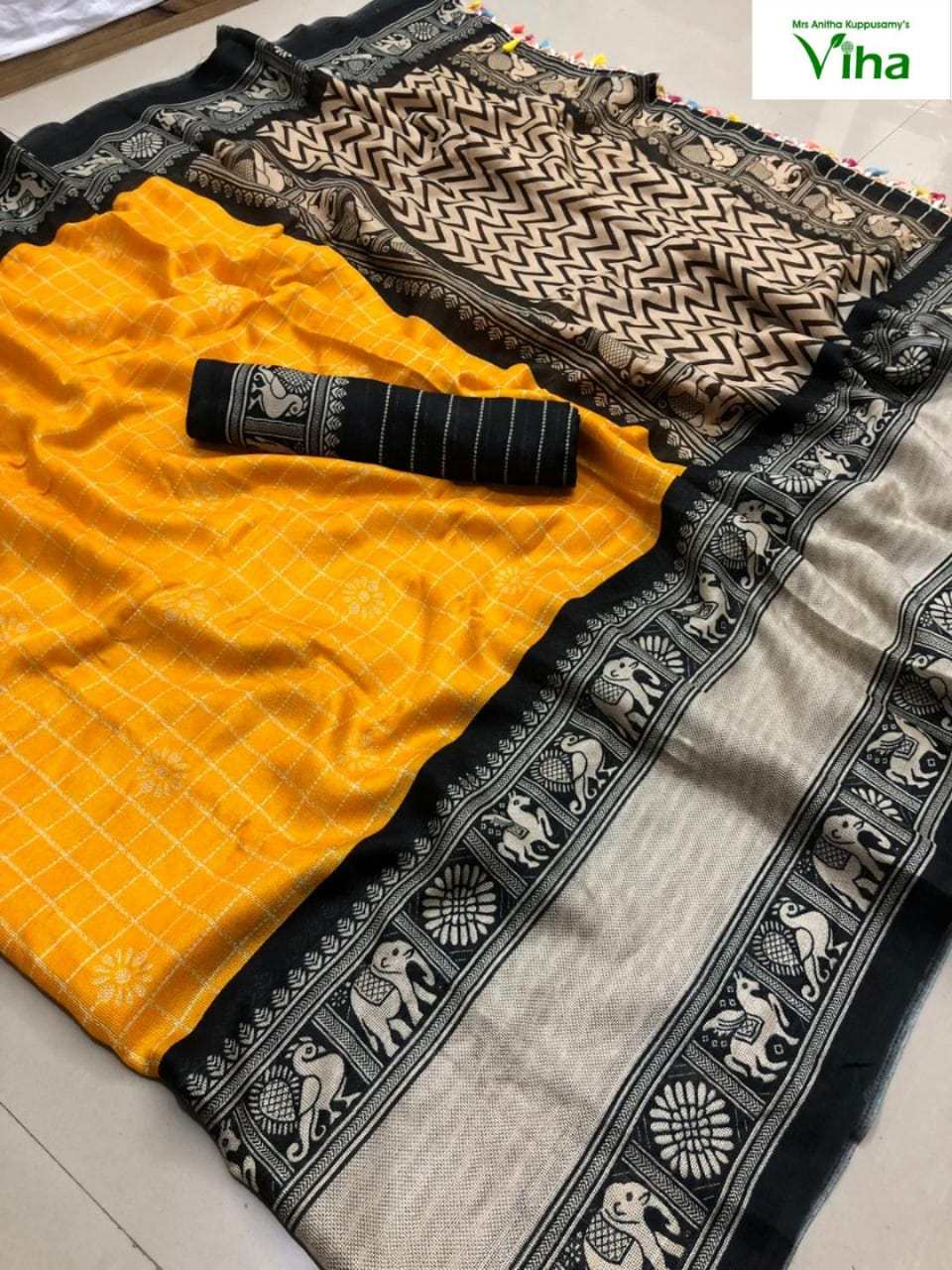 Jute Linen Silk Saree(inclusive of all taxes)