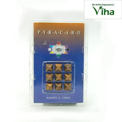 Pocket Size Pyra Card with Pyramid Yantra for Business & Career