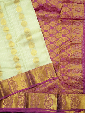 All over Embossed Pure Korvai Silk Saree (inclusive of all taxes) / எம்போஸ்ட் கோர்வை பட்டுப் புடவை