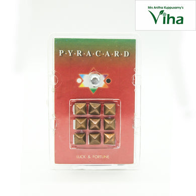 Pocket Size Pyra Card with Pyramid Yantra for Luck & Fortune