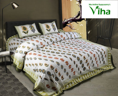 Premium Twirl Cotton Bedsheets - including tax
