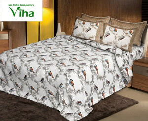 Overall Printed Cotton Bedsheets