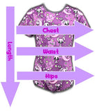 Shibari Jay Onesie NEW OFFICAL SIZE CHART