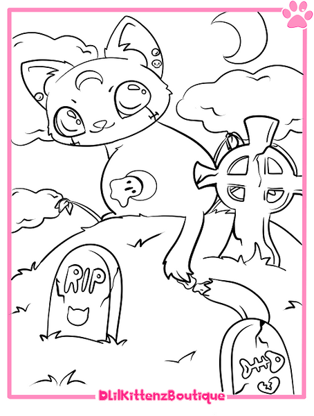 Jinxy Coloring Page