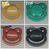 Adult Pacifiers GLITTER CUSTOM OPTIONS