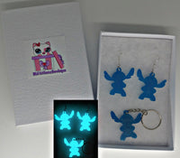 GITD Stitch Earrings & Keychains