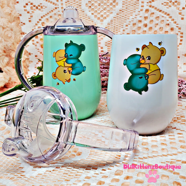 Twin Bear Opposites Attract Sippy Cups