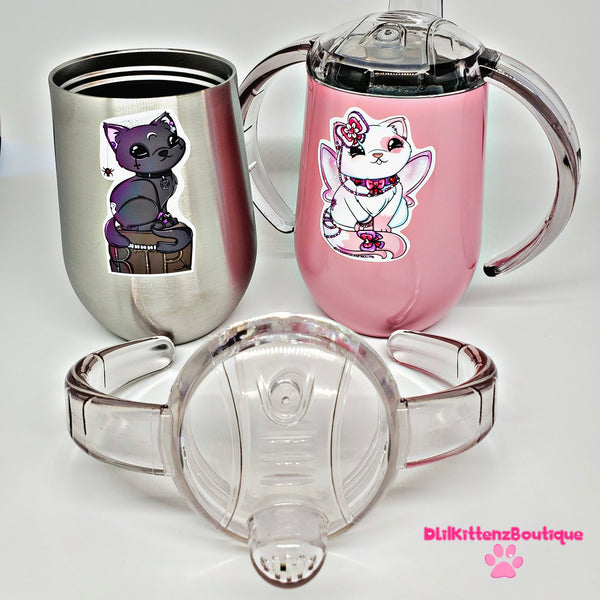 Twin Kitty Sippy Cup Set