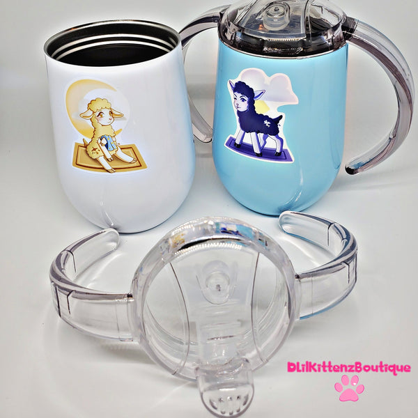 Twin Lamb Sippy Cup Set