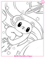 Mochi Coloring Page