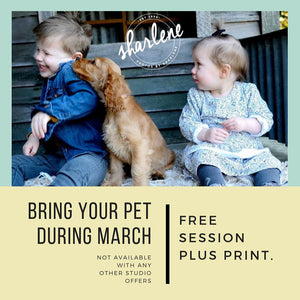 Free Family Pet Session + Bonus Print