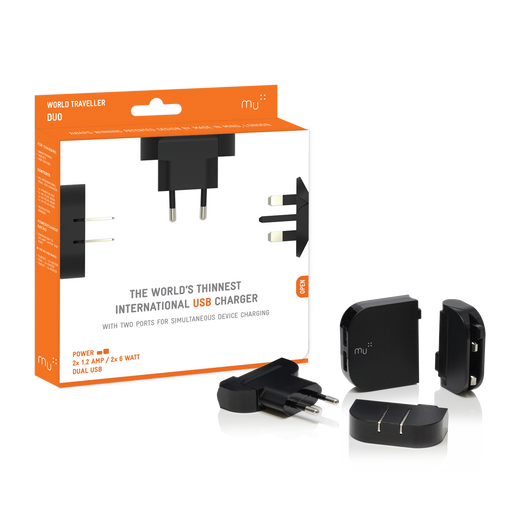 Mu International Worldwide Traveller Duo USB Charger Singapore - Travel Adaptor  - the-Expedition.com