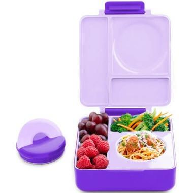 OmieBox Kids Thermos-Insulated Bento Lunch Box Singapore - Lunchbox Purple Plum - the-Expedition.com